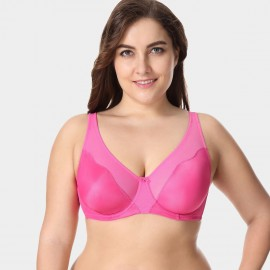 Delimira Unlined Non-Padded Peach Bra (W001)