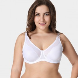 Delimira Unlined Non-Padded White Bra (W001)