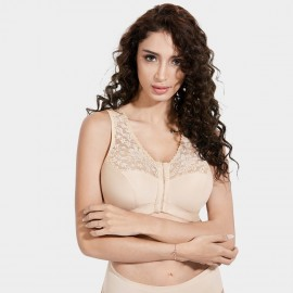 Delimira Front Closure Wireless Nude Bra (W003)