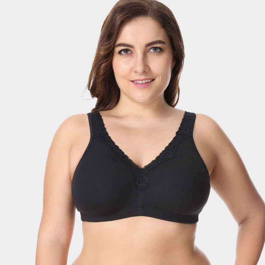 Delimira Wireless Full Coverage Black Bra (W493)