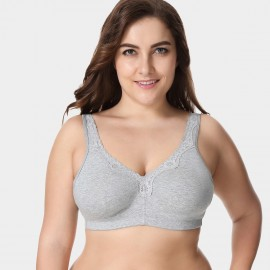 Delimira Wireless Full Coverage Grey Bra (W493)