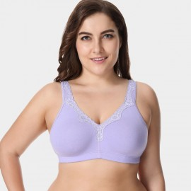 Delimira Wireless Full Coverage Lavender Bra (W493)