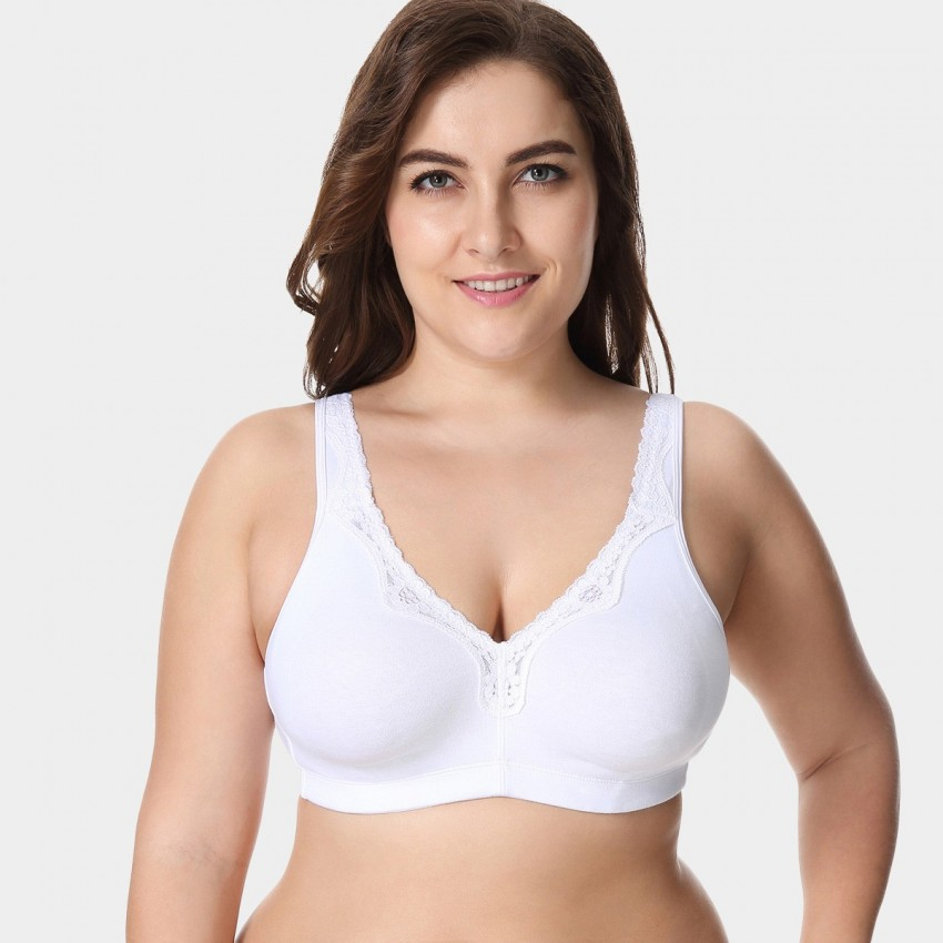 Delimira Wireless Full Coverage White Bra (W493)