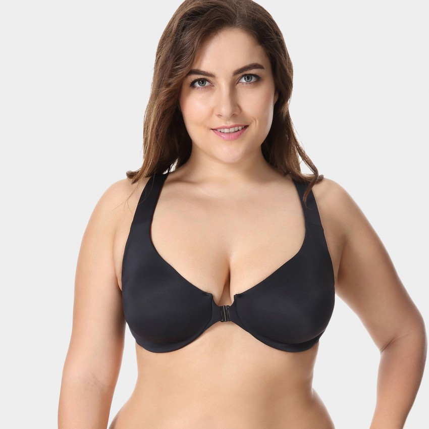 Delimira Wireless Racerback Black Bra (W542A)