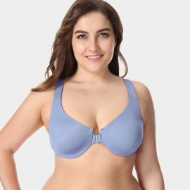Delimira Wireless Racerback Blue Bra (W542A)