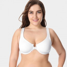 Delimira Wireless Racerback White Bra (W542A)