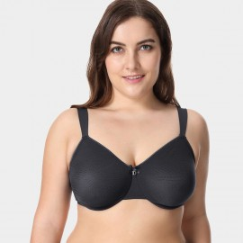 Delimira Durable Underwire Black Bra (W581)