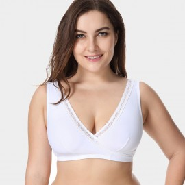 Delimira Breastfeeding Comfort White Bra (W588)