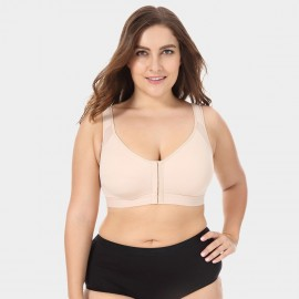 Delimira Wireless Front Closure Nude Bra (W811)
