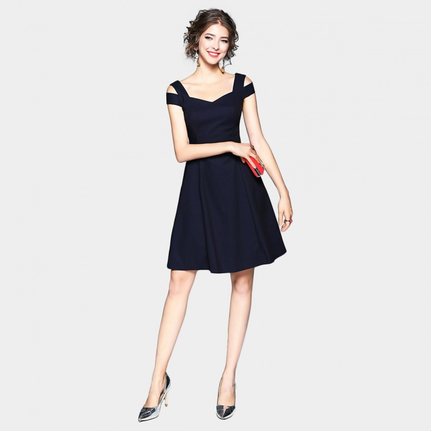 Tina Delicate Navy Dress (133)