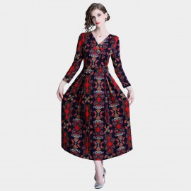 Tina Courtly Grand Red Dress (329)
