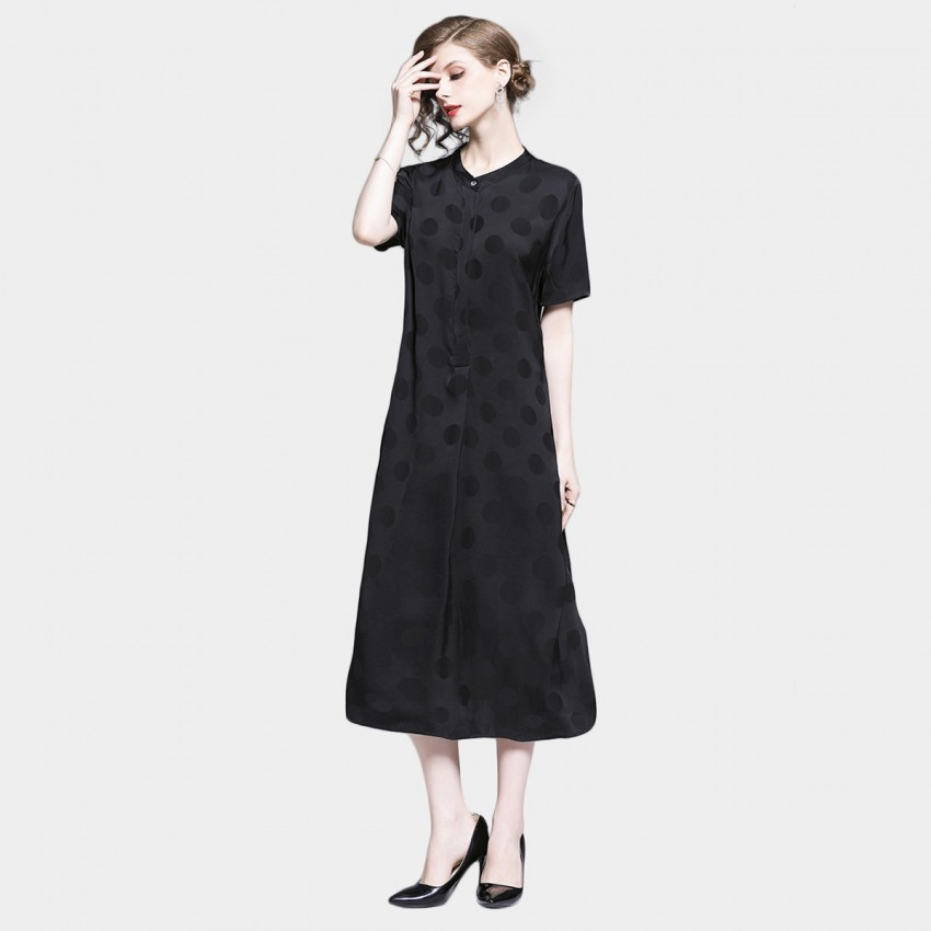 Buy Tina Shadow Dots Black Dress online, shop Tina with free shipping