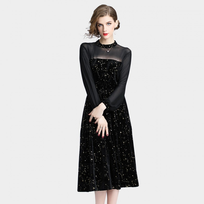 Buy D & R Printed Black Tunic Dress online, shop Tina with free shipping