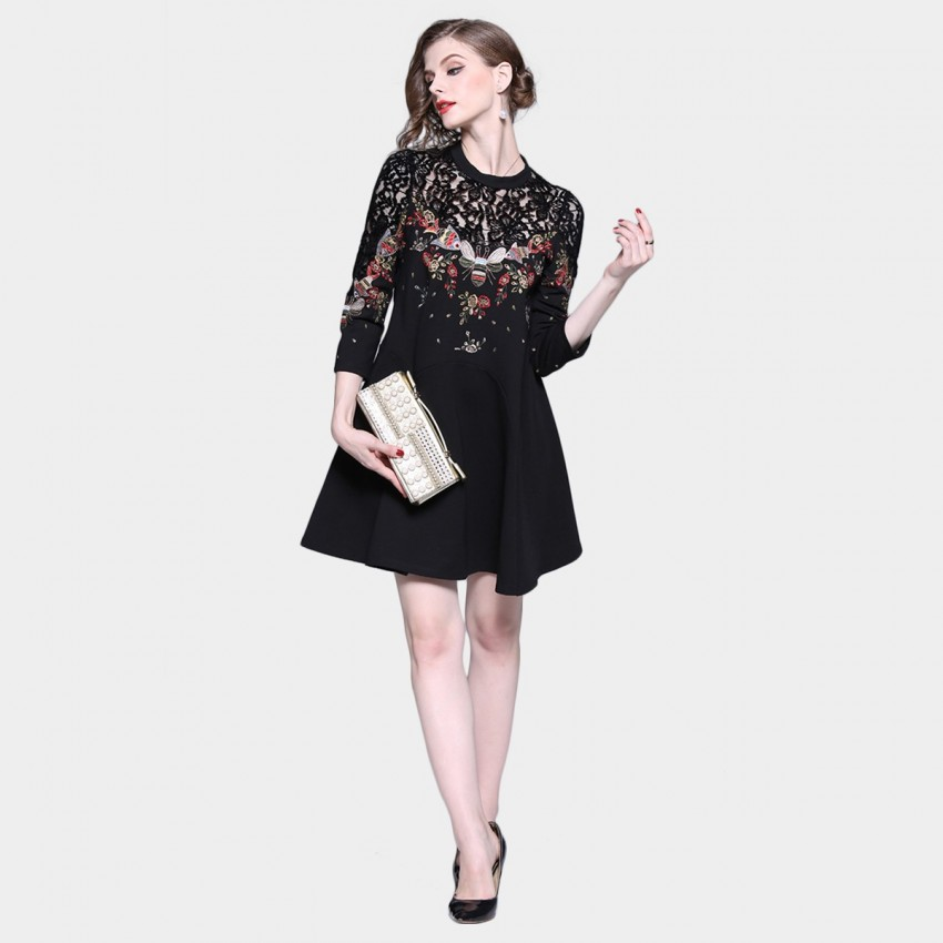Buy Tina Bee Queen Black Dress online, shop Tina with free shipping