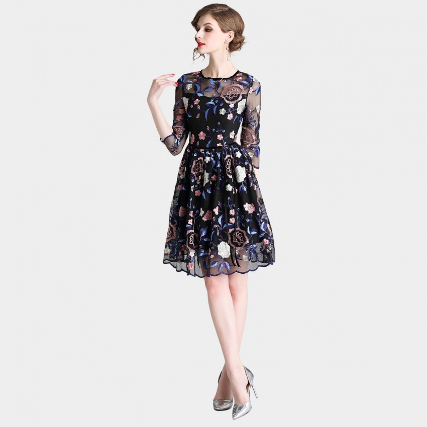 Tina Midsummer Night Floral Dress (6352)