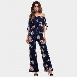 YYFS Lively Floral Navy Jumpsuit (5397)