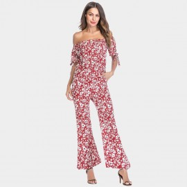 YYFS Lively Floral Red Jumpsuit (5397)