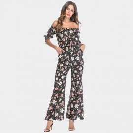 YYFS Lively Floral Redbean Jumpsuit (5397)