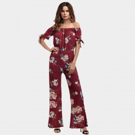 YYFS Lively Floral Wine Jumpsuit (5397)