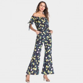 YYFS Lively Floral Yellow Jumpsuit (5397)