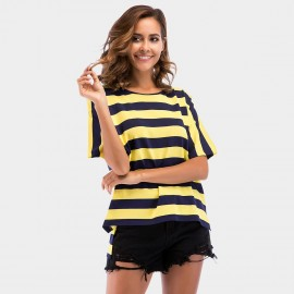 YYFS Loose Stripe Yellow Tee (5702)