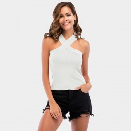YYFS Criss-Cross Strap White Top (5724)