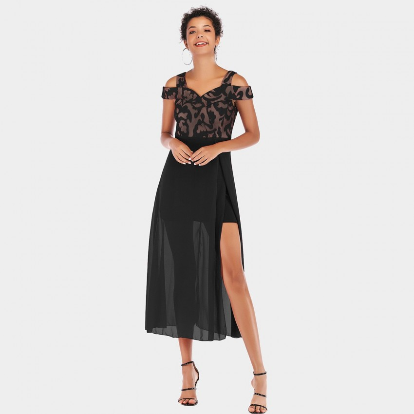 Buy YYFS Noble Strap Black Dress online, shop YYFS with free shipping