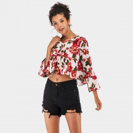 YYFS Loose Blossom Floral Top (5936)