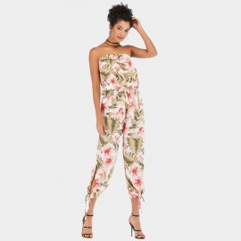 YYFS Long Pants Floral White Jumpsuit (5938)