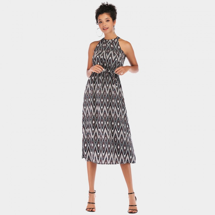 Buy YYFS Rhombus Cut-Shoulder Grey Dress online, shop YYFS with free shipping