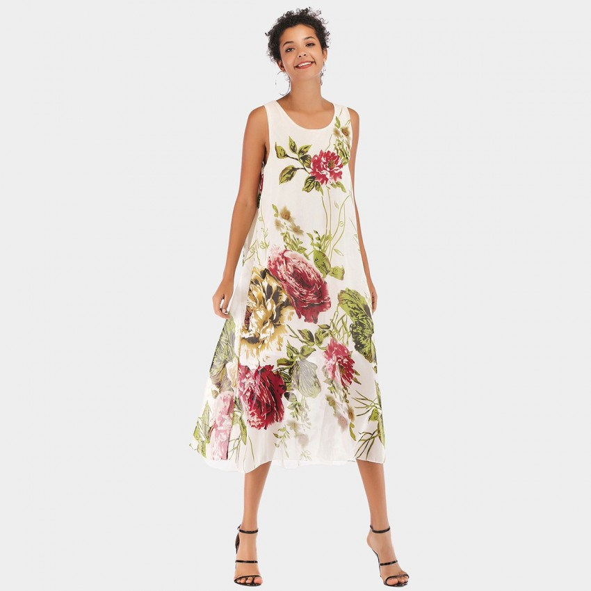 Buy YYFS Floral Vest Dress online, shop YYFS with free shipping