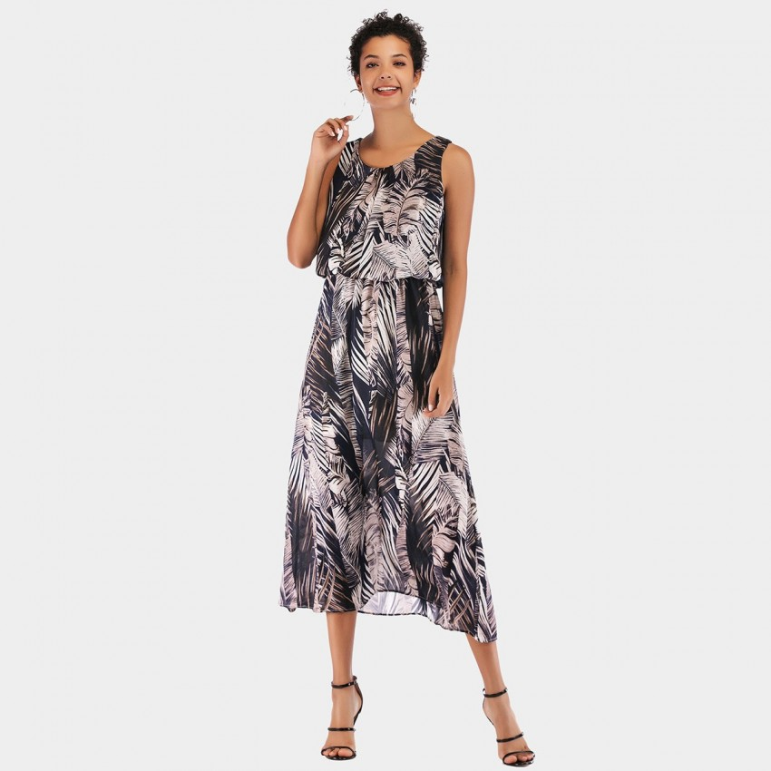 Buy YYFS Leave Charcoal Dress online, shop YYFS with free shipping