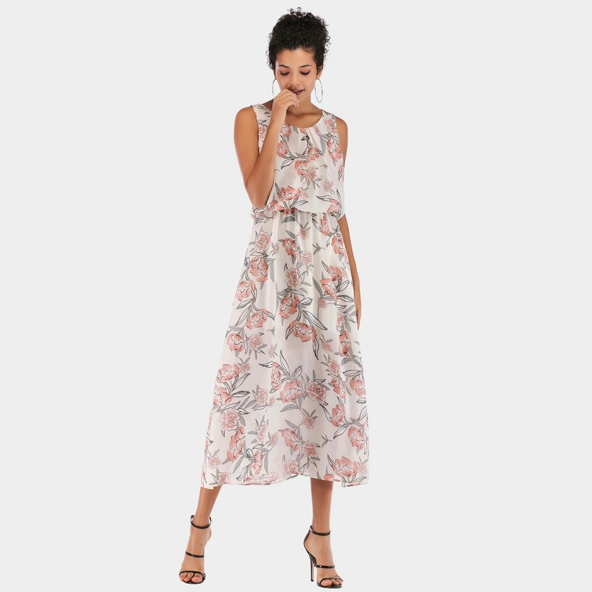Buy YYFS Floral Pink Dress online, shop YYFS with free shipping