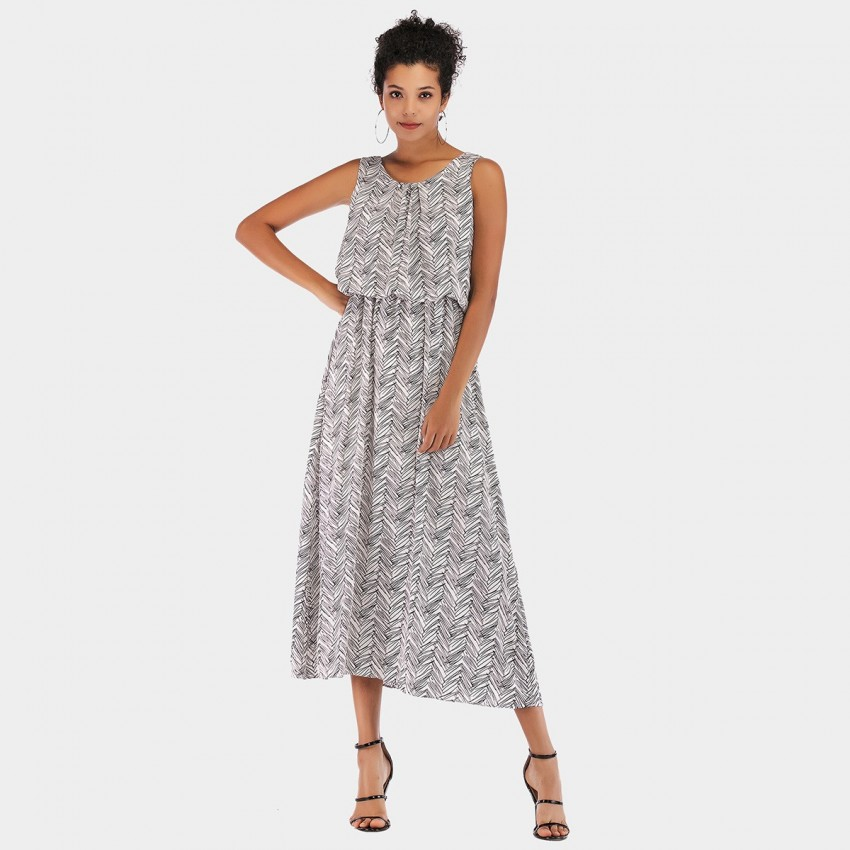 Buy YYFS Leaves Grey Dress online, shop YYFS with free shipping