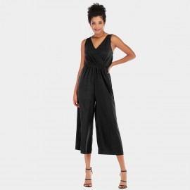 YYFS V-Neck Black Jumpsuit (5954)