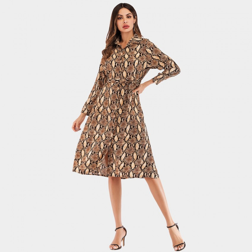 Buy YYFS Animal Print Wild Snake Dress online, shop YYFS with free shipping