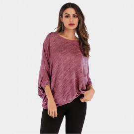 YYFS Oversized Bat Sleeves Maroon Tee (5960)