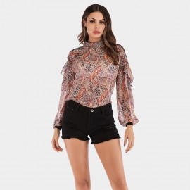 YYFS Exotic Print Pink Top (5971)