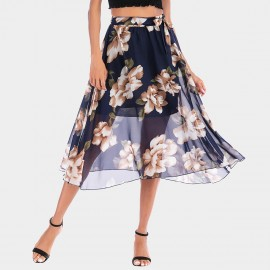 YYFS Floral Tulle Navy Skirt (5994)