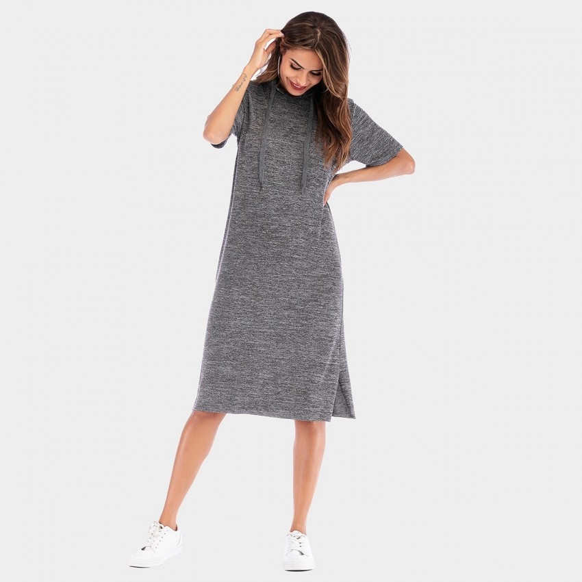 Buy YYFS Hoodie Grey Dress online, shop YYFS with free shipping