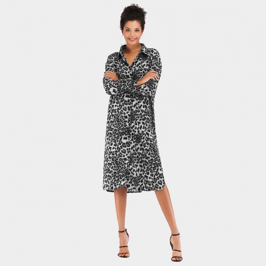 Buy YYFS Animal Print Black Dress online, shop YYFS with free shipping