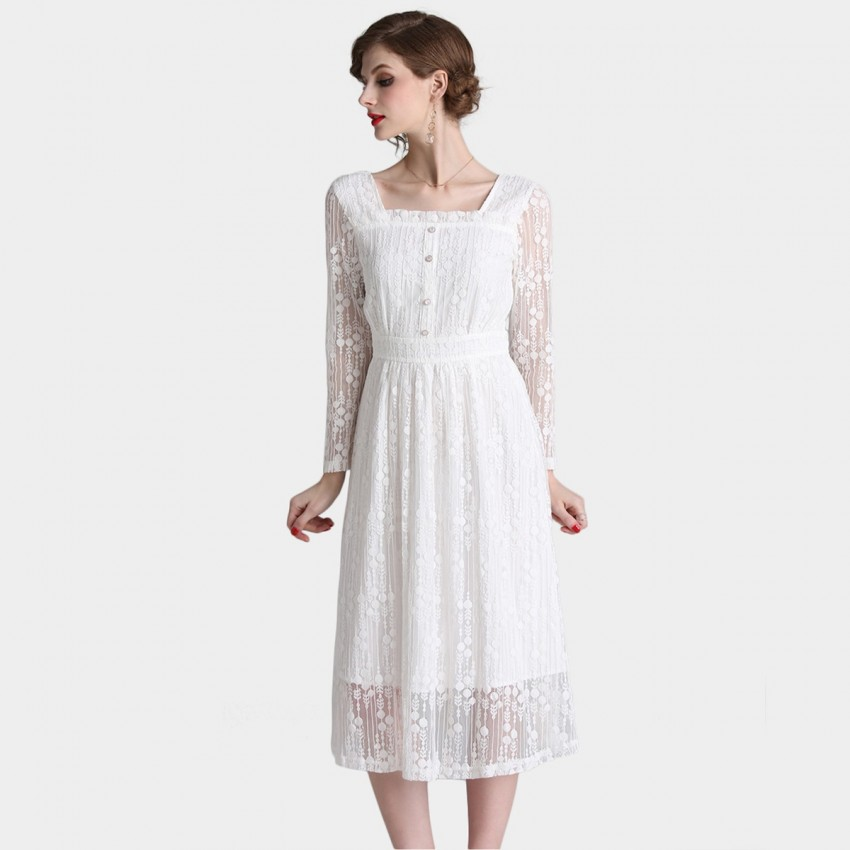Buy Tina Countryside White Dress online, shop Tina with free shipping