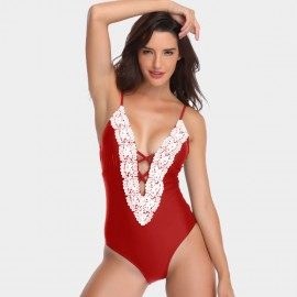Kecole Flaming Halter Red One Piece (SW008)