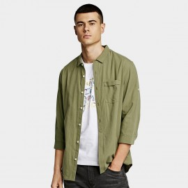 KUEGOU Chic Green Shirt (BC-8199)