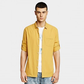 KUEGOU Chic Yellow Shirt (BC-8199)