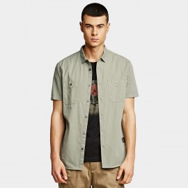 KUEGOU Button Green Shirt (BC-8203)