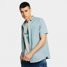 KUEGOU Pocket Blue Shirt (BC-8816)