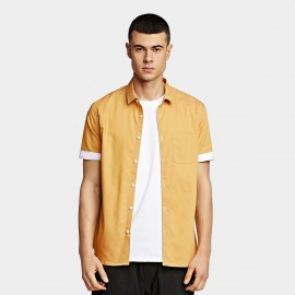 KUEGOU Pocket Yellow Shirt (BC-8816)