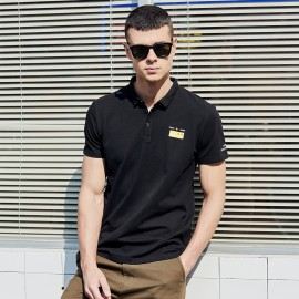 KUEGOU Asia Black Polo Shirt (DT-5906)