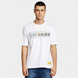 KUEGOU Colourful White Tee (DT-5909)